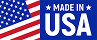 Made in USA label with cropped american flag on left
